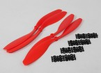 HobbyKing Slowfly Propeller 12x4.5 Red (CW/CCW) (4pcs)