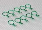 Large-ring Body Clips (Green) (10Pcs)