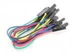Female to Female Single Wire Jumper lead 25AWG 125mm (10pcs)