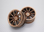 1:10 Scale High Quality Touring / Drift Wheels RC Car 12mm Hex (2pc) CR-VIRAGEG