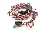 Twisted 60cm Y Servo Leads (Futaba) 24AWG (5pc)