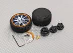 Alloy Pistol Transmitter Turning Wheel 10 Spoke (blue)