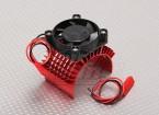 Motor Heat Sink w/Fan Red Aluminum (45mm)