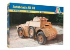 Italeri 1/35 Scale AB 40 Autoblinda Plastic Model Kit