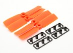 GemFan Bull Nose 3545 GRP/Nylon Propellers CW/CCW Set Orange (2 pairs)