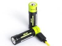 Znter ZNT-5-1-BR 1.5V USB Rechargeable AA Size LiPoly Battery (2pcs)