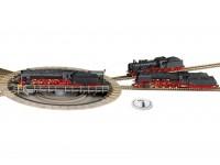 Fleischmann HO Profi Track Electric Turntable with Switchable Track Exits and Turntable Switch