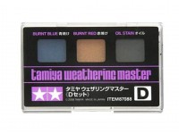 Tamiya Weathering Master D Set - Burnt Blue, Red, Oil Stain