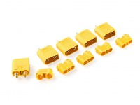 Nylon XT90 Connectors Male With End Cap (5 pcs/bag) Yellow