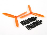 5045 3-Blade Electric Propellers (CW and CCW) Orange (Pair)