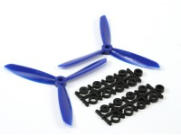5045 3-Blade Electric Propellers (CW and CCW) Blue (Pair)