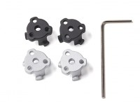 DJI Phantom 4 Metal Propeller Mount (2 x Silver, 2 x Black)