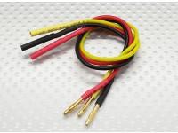 2.0mm Male/Female Bullet Brushless Motor Extension Lead 200mm