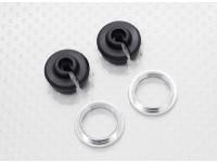 Lower Shock Holder & Adjust Ring - 1/10 Quanum Vandal 4WD Racing Buggy (2sets)