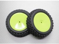 Front Buggy Tyre Set 2sets(Dish rim)  - 1/10 Quanum Vandal 4WD Racing Buggy (2pcs)