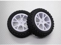 Front Buggy Tyre Set 2sets(Split 5-Spoke)  - 1/10 Quanum Vandal 4WD Racing Buggy (2pcs)