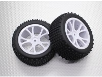 Rear Buggy Tyre Set (Split 5-Spoke)  - 1/10 Quanum Vandal 4WD Racing Buggy (2pcs)