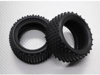 Rear Tires w/Round Tread (2pcs/bag) - 1/10 Quanum Vandal 4WD Racing Buggy