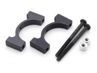 Black Anodized CNC Aluminum Tube Clamp 20mm Diameter