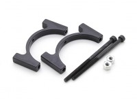 Black Anodized CNC Aluminum Tube Clamp 30mm Diameter