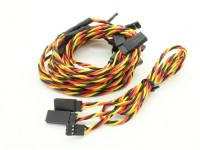 Twisted 60cm Y Servo Leads (JR) 24AWG (5pc)