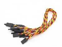Twisted 30cm Servo Lead Extention (JR) with hook 22AWG (5pcs/bag)