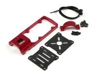CNC Motor Mount for DIY Multi-Rotors 25mm Tube (Red)