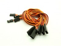 40cm JR 26AWG Straight Extension Lead M to F 5pcs