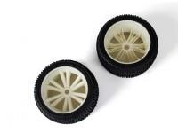 BSR Berserker 1/8 Electric Truggy - Wheel Set (White) (1 pair) 817351-W