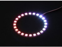 24 RGB LED 7 Color Round Board 5V and Intelligent RGB LED Controller with Futaba Style Plugs