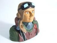 Model WW2 Pilot 1/6 (H73 x W76 x D41mm)