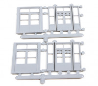 Micro Engineering HO Scale Store Front Doors 4pcs (80-165)