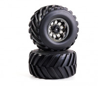 1/10th Scale 2.2 Badland Monster Truck Wheels and Tires 12mm Hex (2pcs)