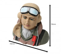 WWII Allied Pilot (H68 x W72 x D43mm)