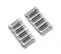 Lightweight Aluminium Round Section Spacer M3x13mm (Silver) (10pcs)