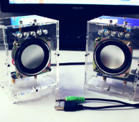 DIY Active Speaker Kit with Clear Case