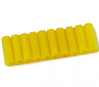 Nylon Spacer 20mm M3 F/F Yellow (10pcs)