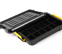 Plastic Multi-Purpose Organizer - 18 Compartment (Black)