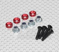 Color Servo Mounting Screw Set (red)