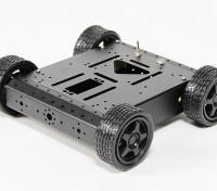 Aluminum 4WD Robot Chassis - Black (KIT)
