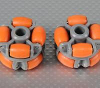 40x28mm Plastic Omni Wheel (2Pcs/Bag)