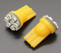LED Corn Light 12V 0.9W (6 LED) - Yellow (2pcs)