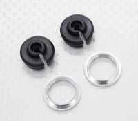 Lower Shock Holder & Adjust Ring - 1/10 Quanum Vandal 4WD Racing Buggy (2sets)