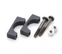 Black Anodized CNC Aluminum Tube Clamp 12mm Diameter