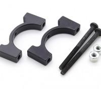 Black Anodized CNC Aluminum Tube Clamp 20mm Diameter