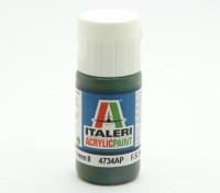 Italeri Acrylic Paint - Flat Medium Green 2 (4734AP)