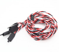 Twisted 60cm Servo Lead Extention (Futaba) with hook 22AWG (5pcs/bag)