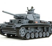Panzer III Ausf.L (Grey) RC Tank RTR w/ Airsoft & Tx (EU plug)