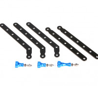 Adjustable Aluminum Mount Set For GoPro Or Turnigy Action Cams (Blue/Black)