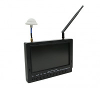 7 inch 800 x 480 40CH Diversity Receiver Sun Readable FPV Monitor w/DVR Fieldview 777 (UK Plug)